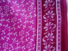 Pink Sari, Saree Fabric, Block Print Fabric, Soft Cotton Fabric, Sheer Fabric, Curtain Material, Drape Fabric Floral Print Fabric India Sari $2.25