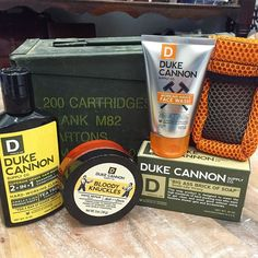 "Keep Dad fresh and clean this Father's Day with the ""manliest"" line of skin care from Duke Cannon! Let the TF Girls get you fixed up for Dad! #tfssi #stsimonsisland #seaisland #fathersday #freshanclean #manly @dukecannon"