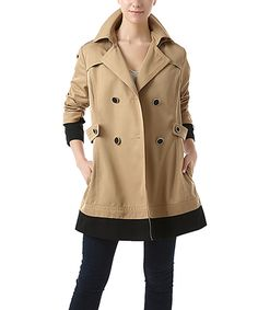 Look at this Jessie G. Tan Marie Colorblock Pea Coat on #zulily today!