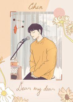 Exo Cartoon, Exo Stickers, Exo Anime, Xiuchen, Exo Fan Art, Boy Illustration, Kpop Posters, Boy Art, Cute Drawings