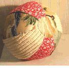 Beach Ball Pillow Tan Woody
