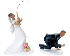 Unique Wedding Cake Toppers Ideas For Bride and Groom - Fishing Style