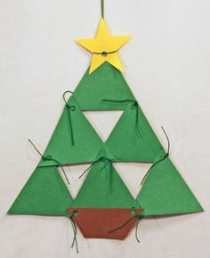 1000 images about triangle craft on pinterest triangles for Holiday crafts with construction paper
