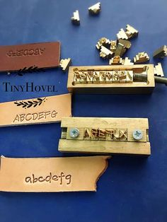Customsized Alphabet Letter Stamps with T-slot holder by TinyHovel