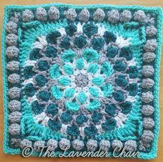 Cascading Mum Mandala Square Crochet Pattern Crochet Squares Afghan, Crochet Square Patterns, Crochet Blocks, Crochet Granny, Crochet Blanket Patterns, Crochet Motif, Crochet Yarn, Crochet Stitches, Stitch Patterns