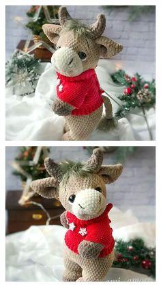Free Crochet, Knit Crochet, Step By Step Crochet, Learn To Crochet, Crochet Animals, Embellishments, Free Pattern, Crochet Patterns, Stuffed Toys