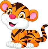 Clipart of Cute baby tiger cartoon k13798021 - Search Clip Art, Illustration Murals, Drawings and Vector EPS Graphics Images - k13798021.eps