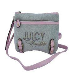 6e66915e2afa Juicy Couture Crossbody Bags Womens Velour Gray Pink