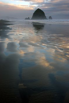"""""""Goonies never say die"""" Haystack Rock - Canon Beach OR -- I was only 15 miles away and missed it!  Dang it!"""