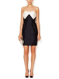 Stella Silk Colorblocked Dress from Elegant Evening: Up to 80% Off on Gilt