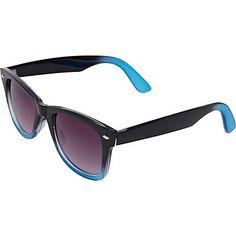 blue dip dye retro sunglasses - retro sunglasses - sunglasses - men - River Island