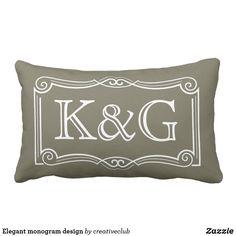Elegant monogram design #monogram #pillows