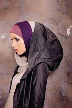 Hijab. Beautiful really. I want a style like this.
