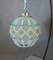 Image result for Free Christmas Beaded Ornament Cover Patterns