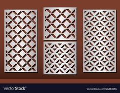 Laser Cut Panels, Laser Cut Wood, Laser Cutting, Wood Carving, Lattice Ideas, Paper Art, Interior Design, Cnc, Metal