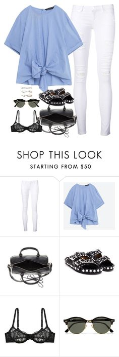 """Untitled#4533"" by fashionnfacts ❤ liked on Polyvore featuring Frame Denim, Yves Saint Laurent, Givenchy, L'Agent By Agent Provocateur, Ray-Ban and Boohoo"