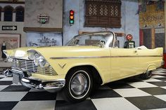 Plymouth Belvedere Convertible / brought to you by at in Parmesan Potatoes, Garlic Parmesan, Car Pics, Car Pictures, 1954 Chevy Bel Air, Mid Size Car, Plymouth Cars, Plymouth Belvedere, Ford