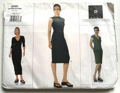 Vogue Sewing Pattern 2091 Donna Karan DKNY, Misses' Size 6-8-10-12, UNCUT