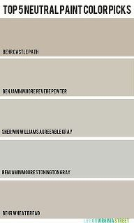 picking the perfect paint color my top five neutral paint colors, painting