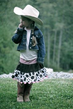 Western Skirt Cowgirl Skirt Toddler Skirt by KelleenKreations Cowgirl Skirt, Cowgirl Boots, Westerns, Toddler Skirt, Little Cowboy, Pink Chocolate, Girls Wardrobe, Boho Baby, Cute Skirts