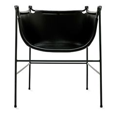 Chair Näbb / steel & leather / by Mattias Stenberg NOLA