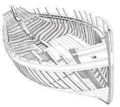 Charpente d'un langoustier de Camaret - AR VAG tome2 Wooden Model Boats, Wooden Boat Building, Boat Building Plans, Boat Plans, Wooden Boats, Model Sailing Ships, Model Ships, Kayaks, Vintage Boats