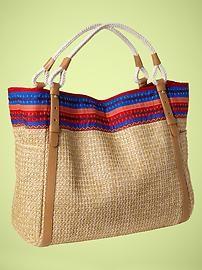 Calvin striped straw bag - nice!