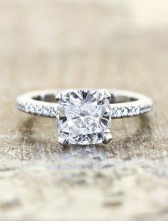 Cushion cut engagement ring  by kenanddanadesign