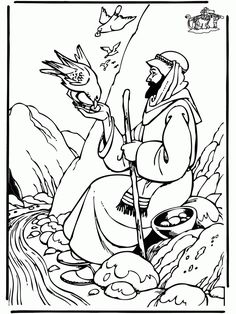 Elijah 39 s Mantle coloring page from Prophet Elijah category