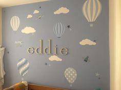 Enchanted Interiors Hot Air Balloons and Jets Premium Self Adhesive Fabric…