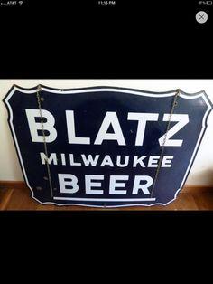 Blatz Porcelain Beer Sign