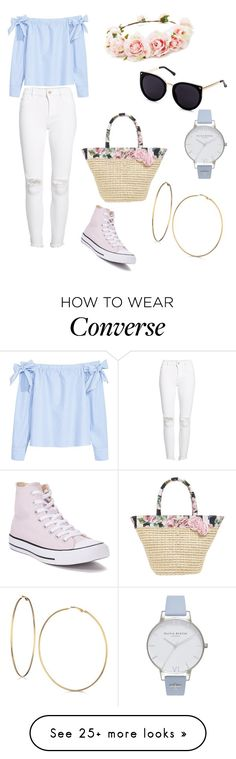 """Vacay Beach Fit"" by aolgiri on Polyvore featuring GUESS, Dolce&Gabbana, H&M, Forever 21, Converse, DL1961 Premium Denim, Olivia Burton, BeachPlease and vacayoutfit"