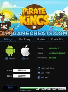 New Pirate Kings hack tool for 2016. Free unlimited spins, cash, & speed. Works on Android & iOS, no jailbreak, no surveys or APK root needed!