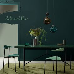Botanical Noir from our Botanical range. The ideal deep green for when you'd like to make a statement. Crown Paint Colours, Green Paint Colors, Wall Colors, Nerd Room, Victorian Home Decor, Modern Interior, Interior Design, Kitchen Dining Living, Condo Remodel