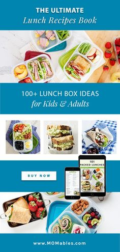Over a hundred ideas for bento boxes, thermos lunches, soups, salads, power bowls, and more! These recipes are kid-approved, made with fresh ingredients, and easy to assemble in the lunchbox. Easy Lunch Boxes, Box Lunches, Lunch Ideas, Lunch Recipes, Real Food Recipes, Healthy School Lunches, Mason Jar Meals, Lunch Containers, Eat Lunch