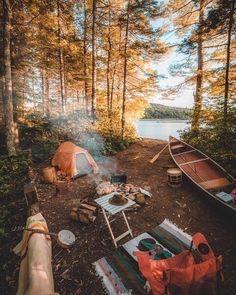 Imagen de camping, nature, and autumn