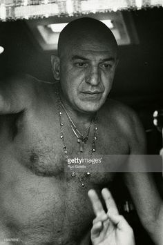 Actor Telly Savalas sighted on location filming Kojak on March 18, 1976 at Universal Studios in Universal City, California. CREDIT: RON GALELLA