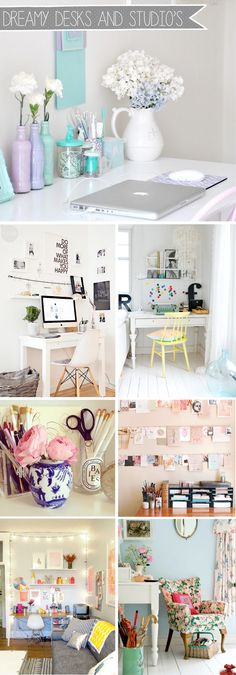 Alice Perry Designs: Interiors / Dreamy Desks and Office Spaces. My New Room, My Room, Desk Inspiration, Desk Inspo, Creative Inspiration, Home And Deco, Bedroom Decor, Bedroom Ideas, Sweet Home