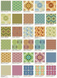 Bradbury vintage wallpaper designs now available as fabrics, too - Retro Renovation 60s Wallpaper, Unique Wallpaper, Wallpaper Designs, Vintage Fabrics, Vintage Patterns, Retro Renovation, Vintage Bathrooms, Fabric Swatches, Retro Design