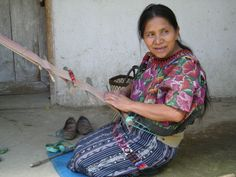 Backstrap Loom Weaving, K'iche, Guatemala.