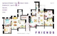 An Artist Created Insanely Detailed Floor Plans For Hit TV Shows