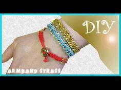 Schmuck selber machen: Armband aus Strass und Makramee - YouTube