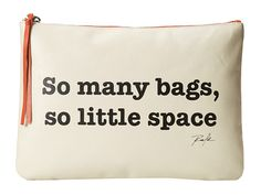 """Rafe New York """"So Many Bags"""" Quote Pouch Natural - Zappos.com Free Shipping BOTH Ways"""