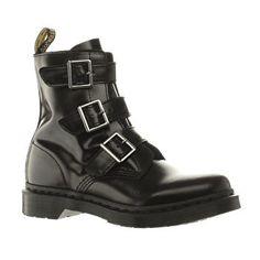 Women's Black Dr Martens Blake Buckle Boot   schuh