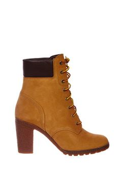 boots a talons timberland glancy 6 inch jaune femme  chaussures accessoires femme