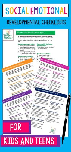 Social Skills 270286415121587822 - Are you curious to know how a child in your life is developing socially and emotionally? Then check out these social emotional develpomental checklists for kids and teens. Source by Social Skills Activities, Activities For Teens, Preschool Ideas, Social Emotional Development, Social Emotional Learning, Child Development, Emotional Kids, Language Development, Skills To Learn
