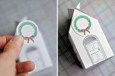 DIY_casita con dulces de Navidad | CASA ATELIER BLOG