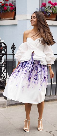 Have a fit of wisteria with this crazy-fabulous printed midi skirt. Divine Wisteria Printed Midi Skirt  and featured by galinathomas Blog
