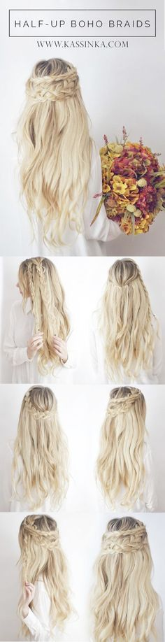 Pretty Braided Crown Hairstyle Tutorials and Ideas \/