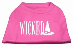 Wicked Screen Print Shirt Bright Pink S (10)